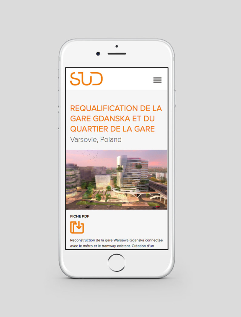 site internet mobile Sud architectes
