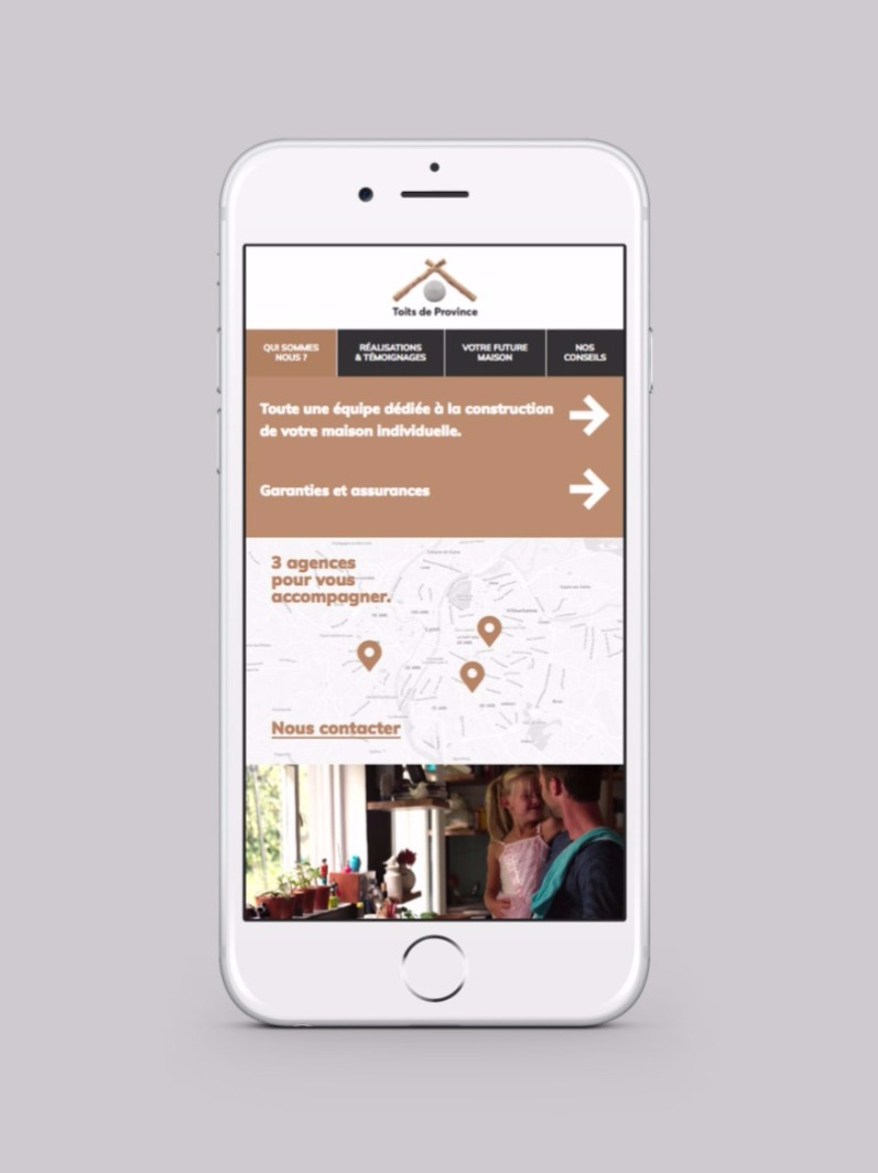 Site web mobile reponsive design