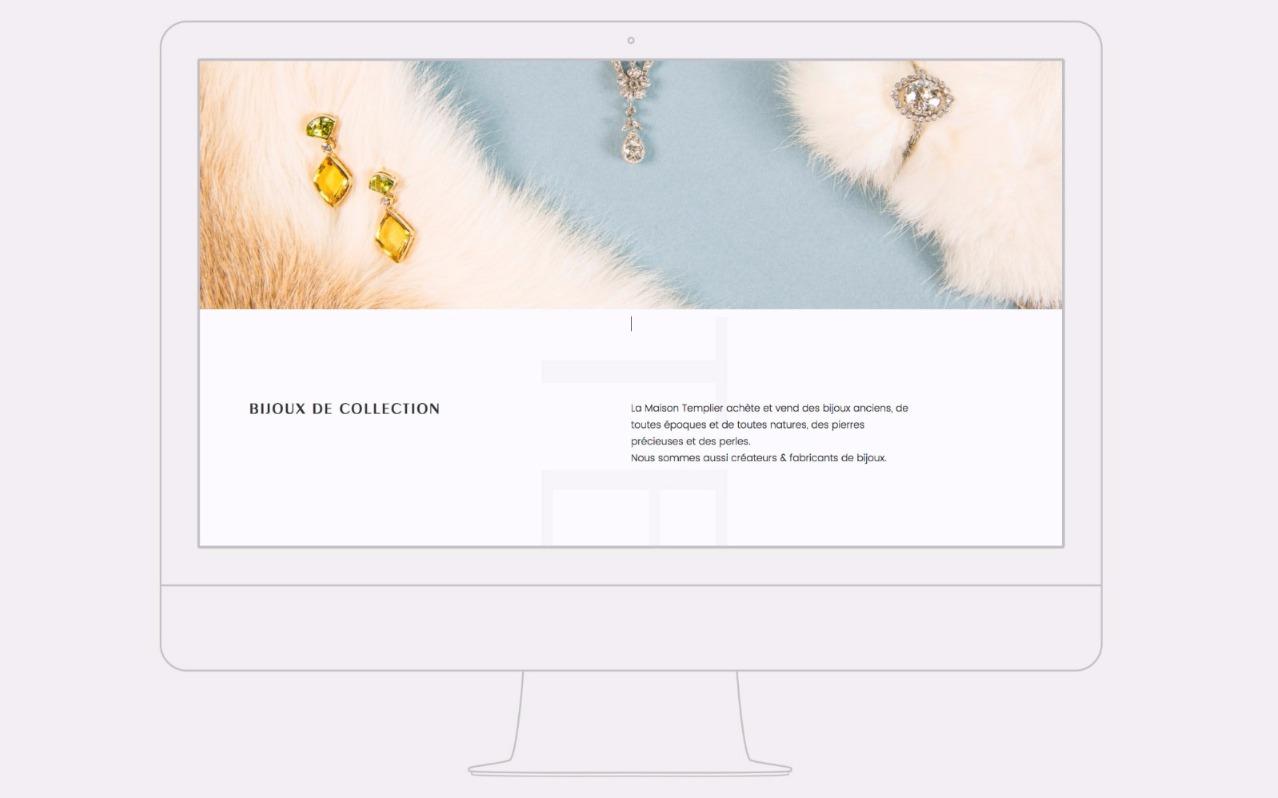 5821c75b573 Réalisation du site web de Templier Bijoux Anciens à Lyon