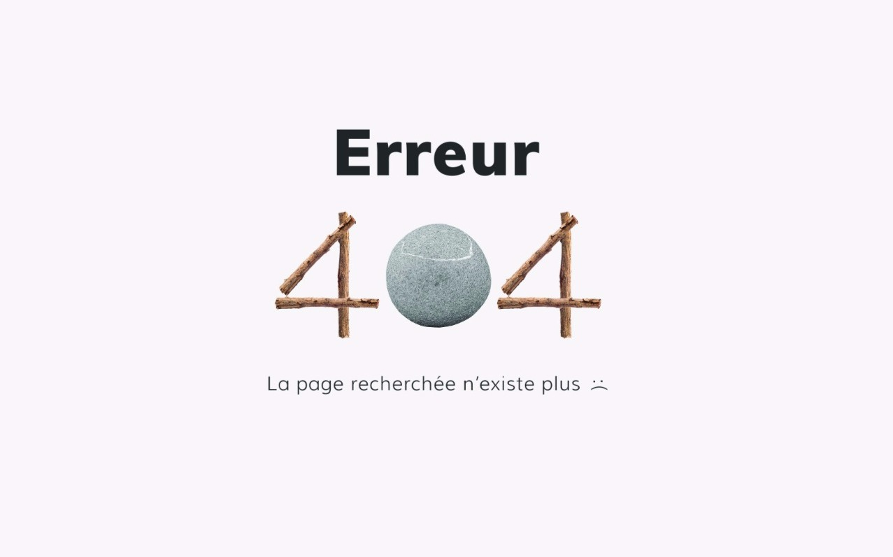Page erreur 404